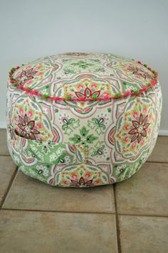 "Child's Pouf,  18""x12"" Floor Cushion with Handle, Children's Floor Pillow on Etsy, $48.00"