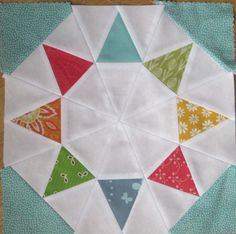 Well now isn't that an easier way to make this block?!  LOVE IT!  Anyone have the pattern for this block????  Would love to have it!!  :)