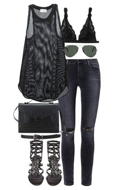 """""""inspired outfit for a meeting"""" by pagesbyhayley ❤ liked on Polyvore featuring Forever 21, J Brand, Monki, Forte Forte, Ray-Ban, Loeffler Randall and Stuart Weitzman"""