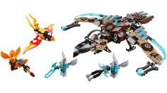 Vultrix's Sky Scavenger - 70228 Lego Chima, Lego Clones, Legos, Claws, Action Figures, Wings, Box Sets, Lego Stuff, List