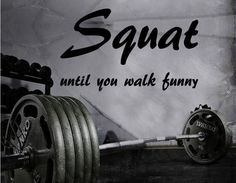 Fitness Motivation Home Gym Wall Decal - Squat Until You Walk Funny https://www.musclesaurus.com #fitnessmotivation