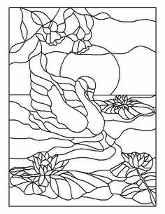 ★ Stained Glass Patterns for FREE ★ glass pattern 349 ★