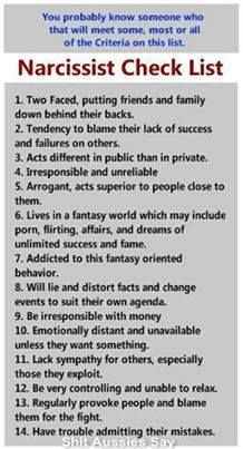 Relationship narcissistic personality disorder