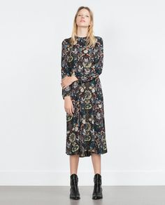 Pin for Later: 22 Fall Dresses That Fit Any Dress Code  Zara printed dress ($70)