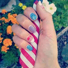 #patriotic #nails! Contract me for a free brochure and samples! #nailart #naildesign #nailaddict #manicure www.michellejulia.jamberrynails.com