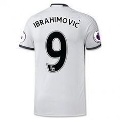 16-17 Third White Manchester United Football Shirt #9 IBRAHIMOVIC Cheap Replica Jersey [G00675]