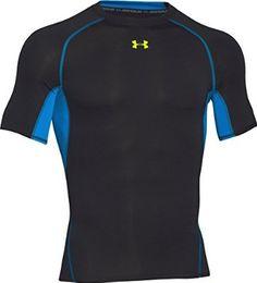 Under Armour Men's HG Short Sleeve Tee, X-Large, Black/High-Vis Yellow