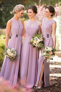 New Arrival A Line Long Bridesmaid Dresses Cheap Hater Bridesmaid Dress Prom Dress LD800