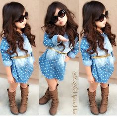 clothes traditional Picture - More Detailed Picture about 2015 Girls Blouses Brand Dot Long Sleeve Children's Clothing Girl Tops For 2 8 Years Fashion Kids Girls Shirt Baby Girls Clothes Picture in Blouses & Shirts from OLEKID Official Store Little Girl Outfits, Cute Outfits For Kids, Little Girl Fashion, Cute Little Girls, Toddler Fashion, Toddler Outfits, Kids Fashion, Style Fashion, Babies Fashion