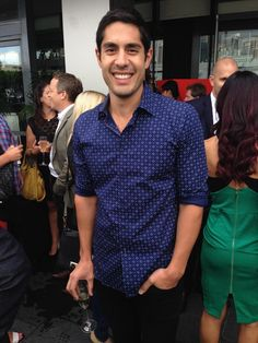Tai Hara looking sharp in Flinders Lane diamond spot shirt. My Kitchen Rules Event #MKR Home and Away Dancing with the Stars My Kitchen Rules  http://www.flinders-lane.com.au/diamond-spot-shirt-1249 — with Tai Hara.