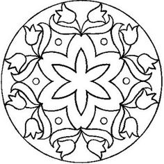 Another Free Mandala pattern from All Things Parchment Craft : My Free Patterns. This would also make a great quilting pattern. Mandala Coloring Pages, Colouring Pages, Adult Coloring Pages, Coloring Books, Stained Glass Patterns, Mosaic Patterns, Embroidery Patterns, Ribbon Embroidery, Machine Embroidery