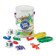 Learning Resources LER9441-D Take 10! Color Bug Catchers