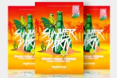 Summer Party - Psd Templates by Creative Flyers on @creativemarket