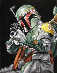 Star Wars Boba Fett black velvet painting by BruceWhite Boba Fett Art, Star Wars Boba Fett, Jango Fett, Bd Star Wars, Star Wars Art, Chasseur De Primes, Velvet Painting, Star Wars Tattoo, Original Trilogy