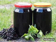 Sok z czarnego bzu i mięty Home Remedies, Natural Remedies, Polish Recipes, Canning Recipes, Natural Medicine, Superfoods, My Favorite Food, Compost, Mason Jars