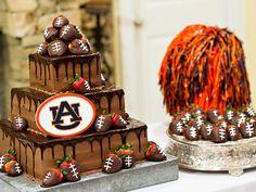 Auburn University Groom S Cake With Fondant Tiger Bride