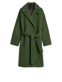 Wool & Mohair Belted Coat from Arket