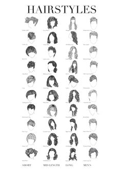 What is a line?- Hair by Tanida Panyamang, via Behance