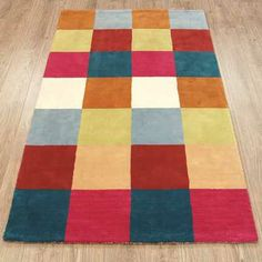Vienna Check - Bright Mix Rugs - buy online at Modern Rugs UK