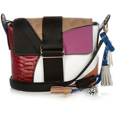 River Island Pink patchwork cross body handbag ($60) ❤ liked on Polyvore featuring bags, handbags, shoulder bags, man bag, pink purse, crossbody shoulder bags, handbags purses and shoulder handbags