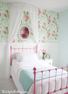 DIY Beautiful Big Girl Cottage Styled Bedroom  Makeover- The Lilypad Cottage