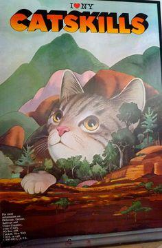 Milton Glaser 'I Love NY' Catskills Cats Poster.