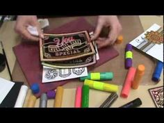 #92 Faber-Castell Gelato Inks, Texture Stamps & Color Me Resist Paper by Scrapbooking Made Simple - YouTube