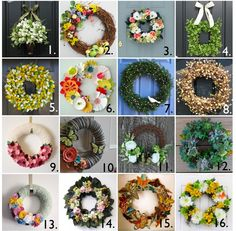 a few fun wreaths on this page. I want to make some of them!