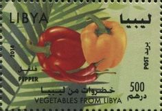 Stamp: Pepper (Libya) (Vegetables from Libya) Mi:LY 3066,WAD:LY010.14