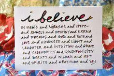 i believe.........