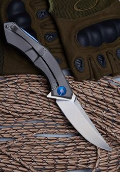Shirogorov knife D2 STEEL BLADE 58-60HRC Titanium Handle Combat Camping Hunting EDC Knife Survival Knife