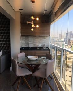 Comfy Kitchen Balcony Design Ideas That Looks Cool – COODECOR Yatak odası – home accessories Room Design, Home, House With Porch, Furniture For Small Spaces, House Interior, Interior Balcony, Home Interior Design, Interior Design, Apartment Balcony Decorating
