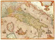 Abraham Ortelius. Italiae novissima descripto. Antwerp, 1579.