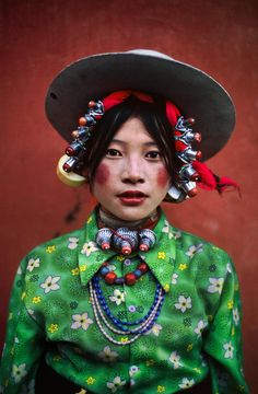 Tibet, Khampa Girl by Steve McCurry