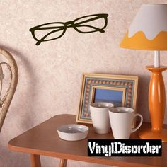 Glasses Wall Decal - Vinyl Decal - Car Decal - AL009