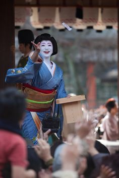 The lovely geiko Ichisayo after dancing and lucky beans for Setsubun.