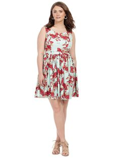 Priscilla Dress In Rose Bouquet by  Queen of Heartz  Available in sizes 10-32