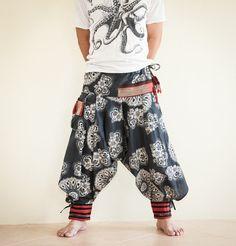 Samurai Warrior Tribal Harem Ninja Pants Hmong by AmazingThaiStore, $36.00