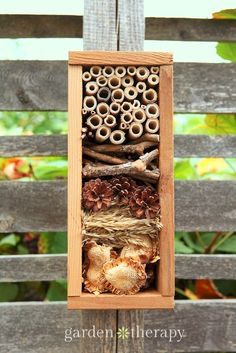 Overwinter beneficial insects in this beautiful bug hotel by garden therapy