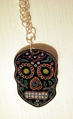 Shrink plastic sugar skull