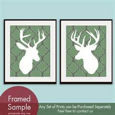 Buck pictures...cute for nursery