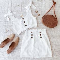 Summer if officially here beauties! There's no better time to wear cute sets like the Crushing On You Set 💘 Teen Fashion Outfits, Girly Outfits, Cute Fashion, Look Fashion, Outfits For Teens, Pretty Outfits, Girl Fashion, Cute Summer Outfits, Cute Casual Outfits