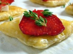 Strawberry Brie Tartlets by A Spicy Perspective