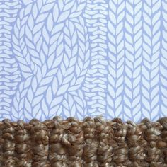 Knit, woven. Highland Cable wallpaper from Lake August