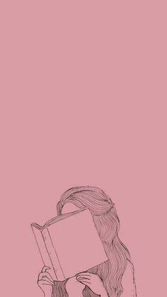 Pin by arika uddin on line/ ink art in 2019 милые обои, рису Cartoon Wallpaper, Book Wallpaper, Cute Wallpaper Backgrounds, Tumblr Wallpaper, Girl Wallpaper, Cute Wallpapers, Reading Wallpaper, Wallpaper Wallpapers, Aesthetic Pastel Wallpaper