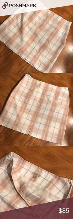 Burberry mini skirt Cute little Burberry mini skirt with a side zip. Nicely lined Burberry Skirts Mini