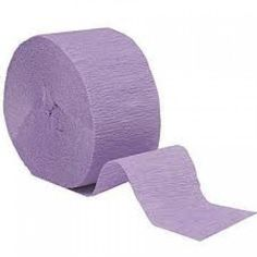 Lilac Crepe Streamer...