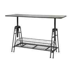 Pull it up or ease it down, this table will always be at the perfect height for your current endeavor. In all metal, it features a large basket along the base, a safe choice for storing parts and proje...  Find the Great Heights Work Table, as seen in the Urban Arboretum Collection at http://dotandbo.com/collections/urban-arboretum?utm_source=pinterest&utm_medium=organic&db_sku=IMX0509