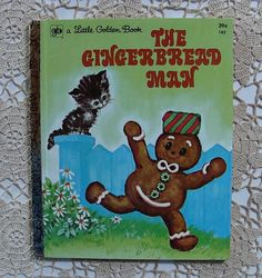 Vintage Little Golden Book The Gingerbread Man THIS IS THE GINGERBREAD MAN BOOK I REMEMBER!  I must find one!!!!!