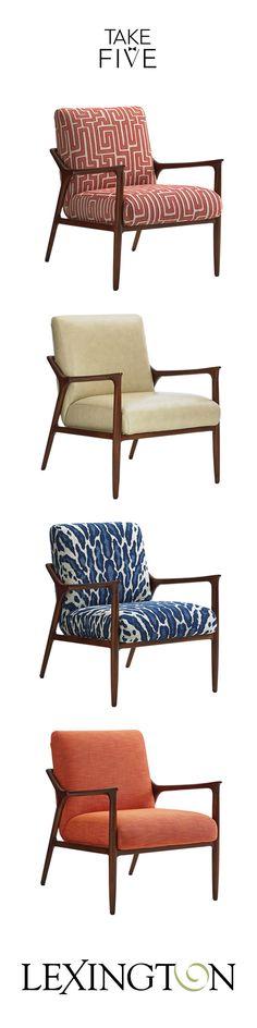 Our mid-century modern Warren chair shown four ways.
